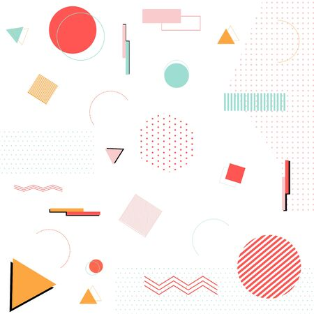 Memphis design isolated on white background. vector illustration