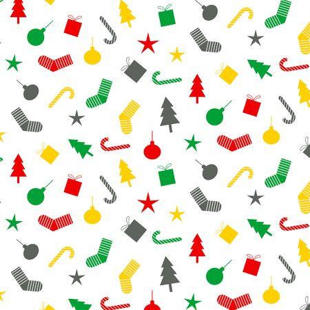 Memphis design Christmas concept pattern , vector illustration