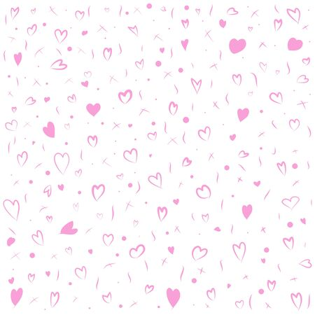 Memphis pattern background for  Valentine's Day, Vector illustration
