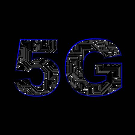 5G new wireless internet wifi connection.  Global network high speed innovation connection data concept