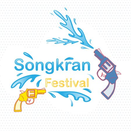 Songkran festival background , Water festival marks the beginning of the traditional Thai New Year. vector illustration