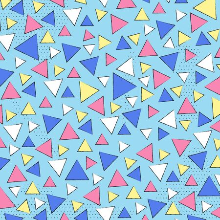 Memphis pattern Triangle shapes background , Vector illustration