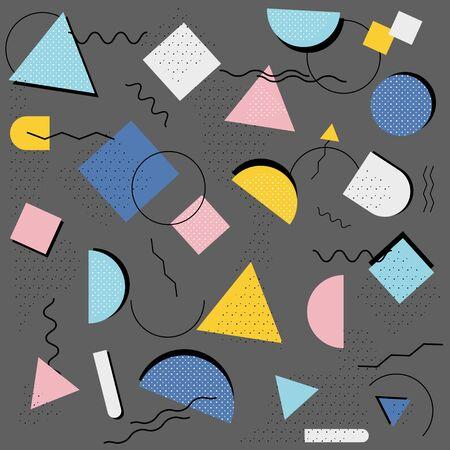 Memphis pattern styles background. vector illustration  Ilustrace