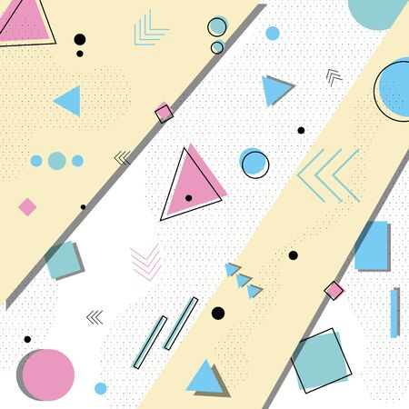 Abstract background in the style of Memphis .vector illustration