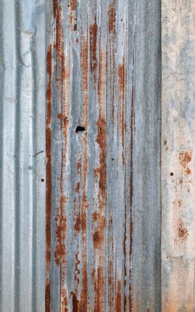 dirty and Rusted,galvanized iron roof ,large tin background  Stock Photo