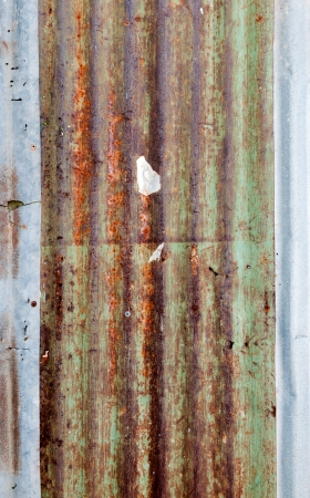 dirty and Rusted,galvanized iron roof ,large tin background  photo