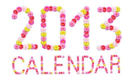 Flower Font Calendar   photo