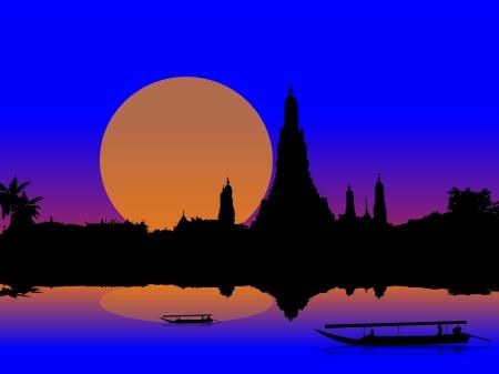 Temple Thailand Stock Vector - 19143407
