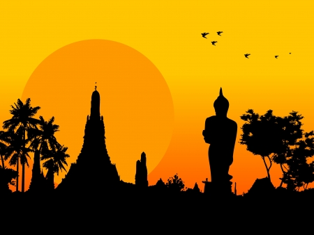 Temple Thailand  Vector