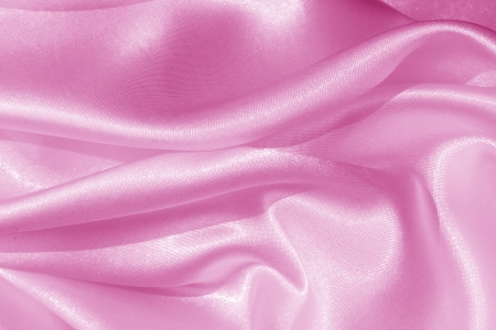 Smooth elegant pink silk as background  Stock Photo - 19143445