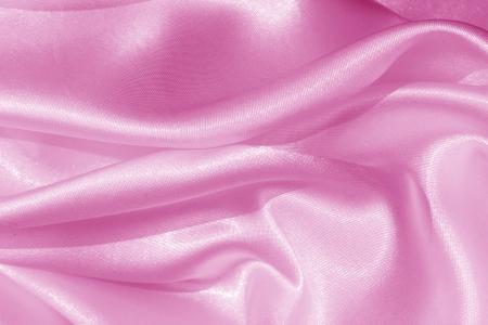 Smooth elegant pink silk as background Stock Photo - 19143445