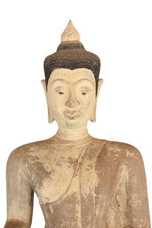 godhead: Ancient Buddha statues  Temple sri kom kam  Phayao Province, Thailand  It is open daily   Stock Photo
