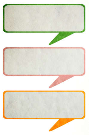 Recycled paper stick on white background Stock Photo
