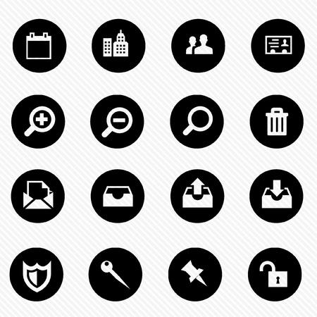 Collection vecteur icône ensemble Banque d'images - 20103124