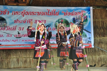 CHIANG RAI, THAILAND - SEP 2 : Swing Festival  Rams spawned Annual festival of Akha Akha Chiang Rai Association on 2 September 2010 at Baan Saen Jai , Mae Salong , Mae Fah Luang, Chiang Rai, Thailand