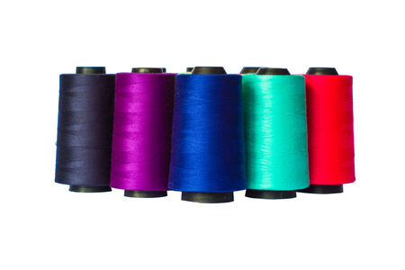 large group of items: Group of thread for fabric work.