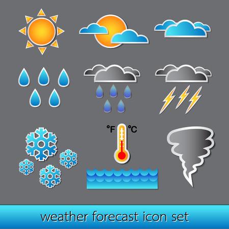 Vector set of basic forecast icons