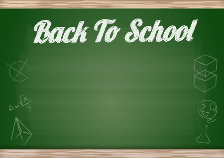 Fake chalkboard back to school background with empty space Vector
