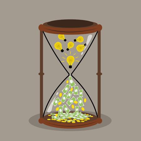 quick money: Change idea and time to money money concept idea concept