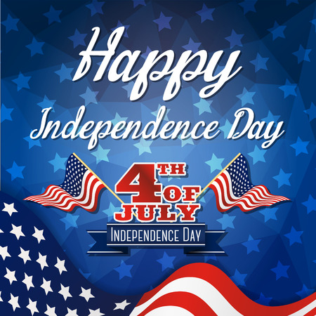 independent day: Happy independence day celebration greeting card Illustration