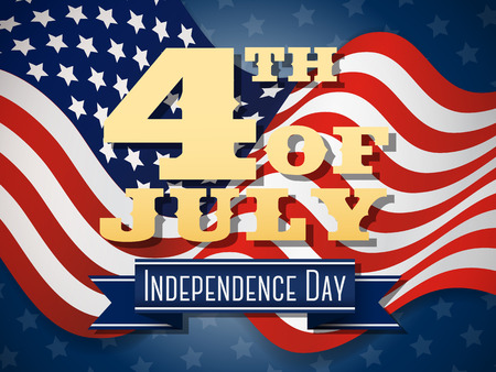 independent day: Independence day 4th of July wavy flag design Vector illustration.