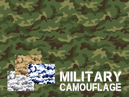 Military camouflage seamless pattern, For textile garment, T-shirt, Printing, Background, Wallpaper, Decoration, Vector illustration