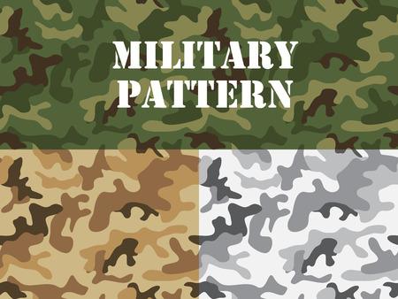 camuflaje: Patrón de camuflaje militar, para la confección textil, la camiseta, la impresión, fondo, papel pintado, decoración, ilustración vectorial