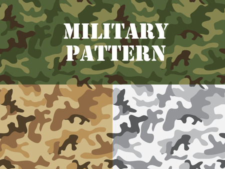 Military camouflage pattern, For textile garment, T-shirt, printing, Background, wallpaper, decoration, Vector illustration Illustration