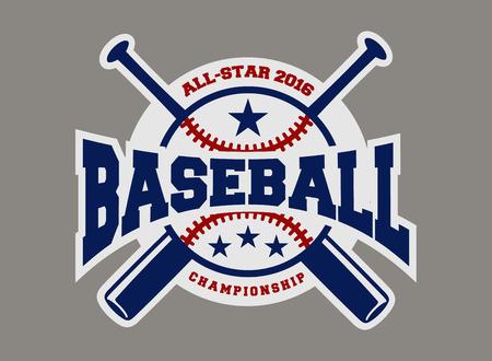Deporte de béisbol logotipo insignia plantilla de diseño y algunos elementos para logotipos, insignia, bandera, emblema, sello, insignias, pantalla camiseta y de impresión Foto de archivo - 42816626