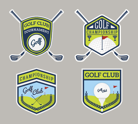 honorable: Authentic Modern Golf Sport Badge Logo Design. For logo, label, emblem, insignia, T-shirt screen, sticker and printing media