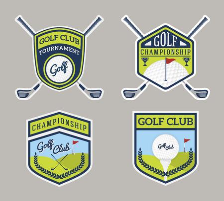 Authentic Modern Golf Sport Badge Logo Design. For logo, label, emblem, insignia, T-shirt screen, sticker and printing media