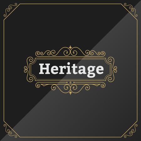Vintage Premium Label Template. Design for Elegant Invitations, Badges, Logotypes. Retro Flourishes Calligraphic. Classic logo template