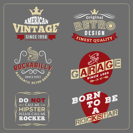 grunge banner: Retro vintage badge design for poster, T-shirt screen, printing, banner logo  Vector illustration