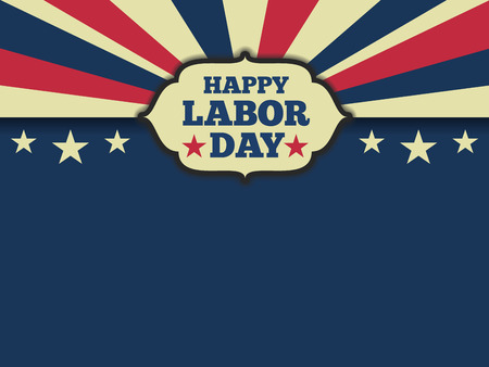 American labor day horizon background. Vector illustration aspect ratio 43