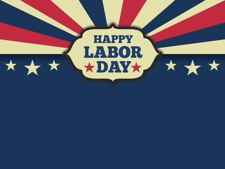 nacional: Día laboral horizonte fondo americano. Ilustración vectorial relación de aspecto 43