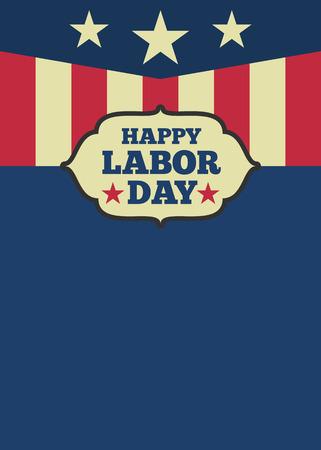 USA Dag van de Arbeid verticale achtergrond met kopie ruimte voor uw tekst. vector illustratie Stock Illustratie