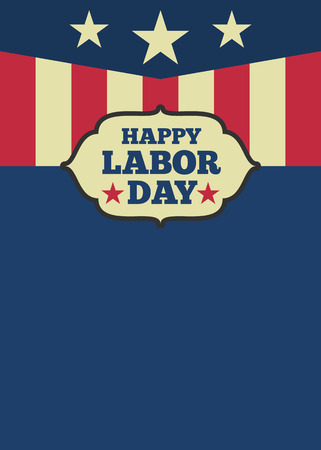 celebration day: USA Labor day vertical background with copy space for your text. Vector illustration