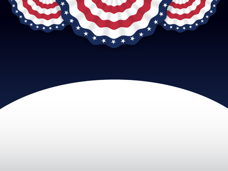American style background for labor day, memorial day, independence day, patriot day, 4 of July. Vector illustration Çizim