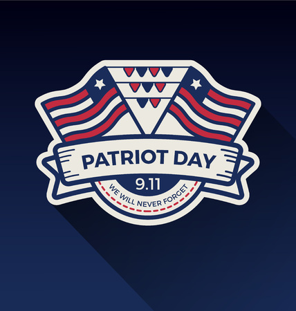 Patriot day badge logo design. Vector illustration