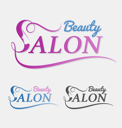 Beauty salon  design with female face in negative space on letter S. Suitable for beauty salon, spa, massage, cosmetic and beauty concept with letter s. Vector illustration