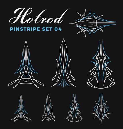 Set Weinlesestift Striping Strichzeichnungen. zählen un-Pfad zu erweitern. verwenden für die Vinylaufkleber, Malerei Vorlage Tattoo. Vektor-Illustration