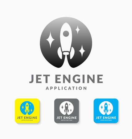 Jet Rocket Logo Logo