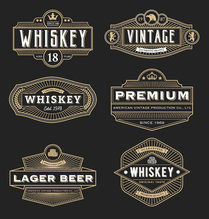 company: Vintage frame design for labels, banner, logo, emblem, menu, sticker and other design. Suitable for whiskey, beer, coffee shop, hotel, resort, jewelery and premium product. All type use free font.