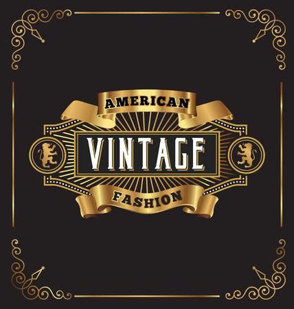 Projeto da etiqueta do quadro do vintage. Adequado para Whiskey, Jóias, Hotel, Café, Restaurante, Barber, negócios Premium.