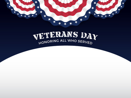 Veterans Day Background with Copy Text Area