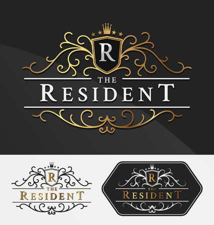 Luxurious Royal Logo Vector Re-sizable Design Template Suitable For Businesses and Product Names, Luxury industry like hotel, wedding, restaurant, jewelry and real estate.