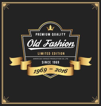 line art: Dise�o del Viejo marco etiqueta de moda para prendas de vestir, whisky, vino, pantalones vaqueros, cuero, F�brica de cerveza, cerveza, producto de la vendimia.
