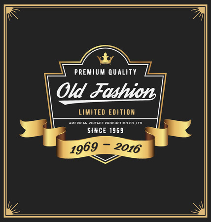 Old fashion frame  label design for Apparel, Whiskey, Wine, Jeans, Leather, Brewery, Beer, Vintage product.