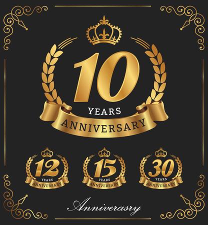 10 12 years: 10 Years Anniversary decorative  Illustration