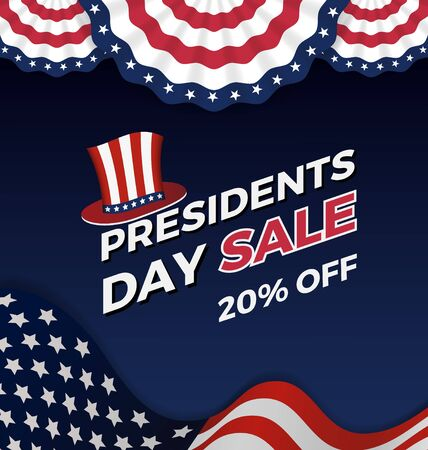 presidents day: Presidents day sale background for business promotional.